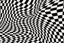 Abstract Distorted Checkered Background