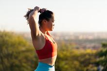 Fitness Asian Woman Portrait