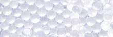 Cosmetic Product Trend Background. Sun Light. Round Bubbles. Organic Nature Merchandise