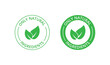 Only natural ingredients stamp, organic product icon, eco emblem, green label