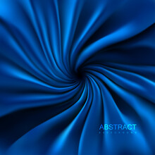 Abstract Background Blue Swirled Textile With Folds Drapes