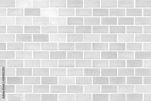 Photo Modern white brick wall texture for background