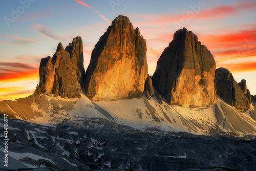 Obraz na płótnie Tre cime di Lavaredo
