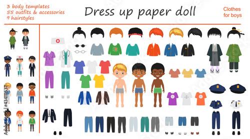 Fotografia Dress up paper doll