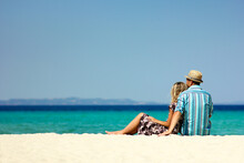 Couple In Love On The Beach