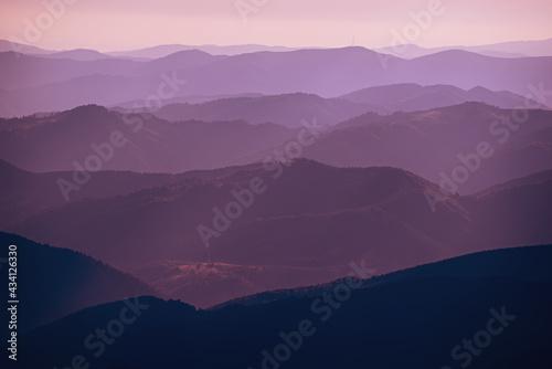 Cuadros en Lienzo Abstract mountain background