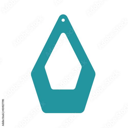 Earrings template Fototapet