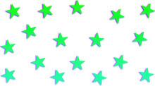 3D-like Green Star Pattern