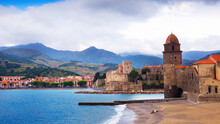 View Of Coastal Village Collioure At South Of France At Spring Day