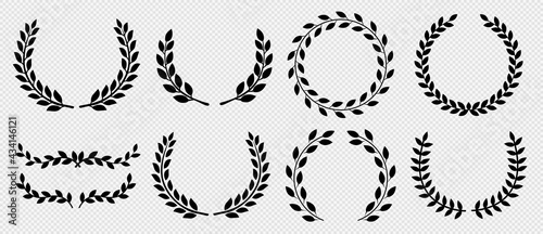 Fotografie, Obraz Circular laurel foliate vector icon