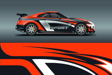 Car Wrap Designs Vector . Background Graphic . File Ready To Print And Editable . Eps 10