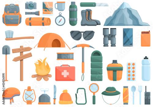 Fototapeta Expedition icons set