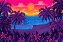 Summer Landscape Background Zoom_2