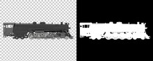 Locomotive Isolated On Background With Mask. 3d Rendering - Illustration