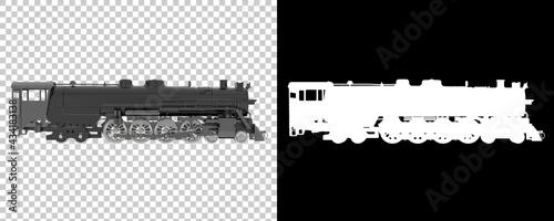 Obraz na plátně Locomotive isolated on background with mask