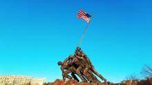 US Marine Corps War Memorial Closeup In Washington DC