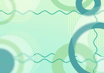 Abstrakcyjne zielone tło - transparentne geometryczne kształty. Szablon z miejscem na Twój tekst, banner, tapeta, ilustracja dla social media story, internetowe projekty, aplikacje mobilne.