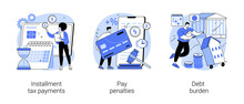 Financial Responsibility Abstract Concept Vector Illustrations.