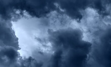 Dark Dramatic Clouds In The Sky (thunderclouds)