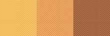 Waffle Set Pattern, Ice Cream Cone Vector Texture, Sweet Dessert Wafer Background. Cartoon Candy Illustration