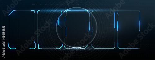 Photo Futuristic Vector HUD Interface Screen Design