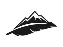 Monogram Modern Mountain And Feather Logo