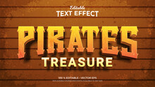 Pirates Treasure Textured Background 3d Style Editable Text Effects Template
