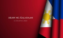 Philippines Independence Day Background Design. Vector Illustration.