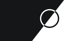 Cuadro Abstracto En Blanco Y. Negro Con Circulo