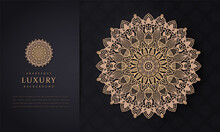 Luxury Mandala Background With Golden Arabesque Pattern Arabic Islamic East Style, Decorative Mandala For Print, Poster, Cover, Brochure, Flyer, Banner, Beautiful Card, Figure Mandala For Coloring