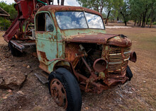 Rusted Wreck Of A Decaying Vintage Truck