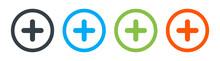 Plus Vector Icon, Add Symbol. Vector Illustration