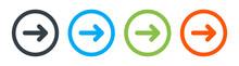 Arrows Button Icon Vector Collection