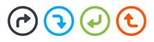 Direction Symbol. Arrow Icon Vector Illustration