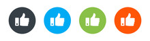 Thumb Up Isolated Vector Icon. Social Media Concept