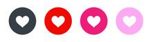 Heart Love Icon. Vector Illustration