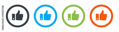 Valokuva Like, thumb up icon vector isolated on white background