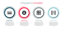 Set Calculator, Function Mathematical Symbol, And Abacus. Business Infographic Template. Vector