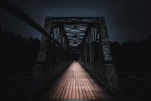 Bridge Over The River At Night