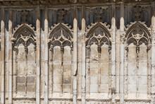 Cathedral Of Santa Maria De Girona, Detail Of The Entrance. Catalonia, Spain