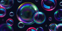 Soap Bright Background Bubbles Realistic
