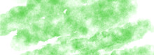 Green Watercolor Background. Abstract Hand Paint Square Stain Background