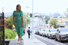 Portrait Of A Romantic Female In The City, Beautiful Woman Style, Elegant Attractive Lady