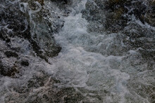The Seething Water Of A Mountain River