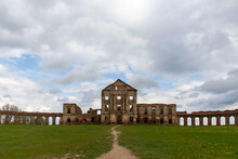 Ancient Ruined Palace Complex With Colonnades