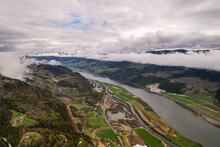View From The Mountain To The River Norway Clouds Gudbrandsdal Norway Faavang Fåvang