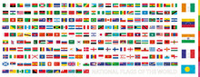 National Flags Of The World With Waving Effect, Flags Sorted By Continent.