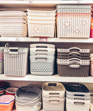 Stack Of Objects In Store For Sale
