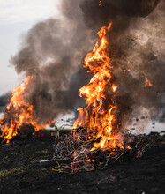 Bonfire On Field