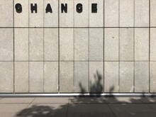 Chance Text On Concrete Wall